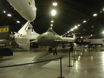 XB 70 nose and vista of AC in museum